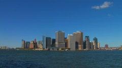 Lower Manhattan Skyline Stock Footage