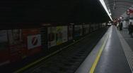 HD1080p Train in Subway Vienna City Austria Stock Footage