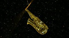 Flying  saxophone Stock Footage