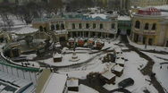 HD1080p Vienna City in winter from air. Snow. Stock Footage