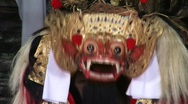 Stock Video Footage of Mask Barong Dancer, Bali