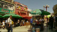 Pedestrian mall, Arica Chile Stock Footage