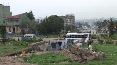 African city homeless camp - stock footage