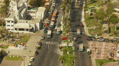 Arica, Chile, cityscape and traffic aerial Stock Footage