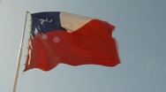 Stock Video Footage of flag, Chilean flag, #2