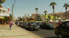 traffic, market square, Arica Chile - stock footage