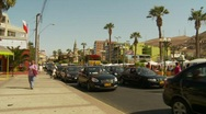 Stock Video Footage of traffic, market square, Arica Chile