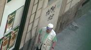 Man Walking on the street Stock Footage