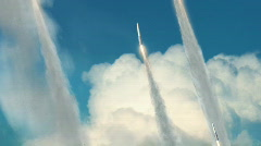 Missiles Being Launched HD Stock Footage
