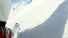 Camera mounted on skis Stock Footage