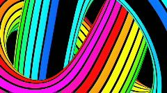Running rainbow strips 4 Stock Footage