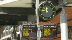 Hours at station in Paris. Under hours of board with departure of trains. - stock footage