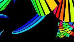 Running rainbow strips 1 - stock footage
