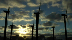 CG Wind Farm Timelapse Comp (720p 29.97) Stock Footage