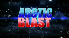 Arctic Blast Animated Background Title Plate Stock Footage