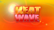 Heat Wave Animated Background Title Plate Stock Footage