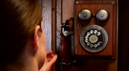 Stock Video Footage of Dialing Vintage Rotary Phone