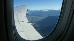 Aircraft window view Stock Footage