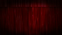 Red Velvet Curtains Black Stage - stock footage