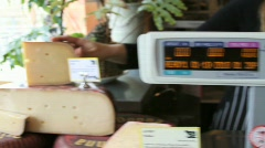 Cheese Store Sequence - stock footage