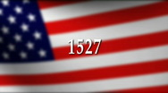 2010 Countdown with American Flag Stock Footage