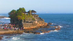 Tanah Lot Temple Hindu Shrine Pilgrimage Sacred Shrine Ocean Gods, Bali Stock Footage