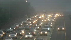 Traffic fog, driving Stock Footage
