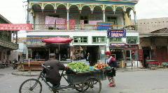 Kashgar street scene Stock Footage