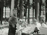 Stock Video Footage of Camping & picnic--From 1930's film