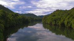 The Khwae Yai River Kwai Thailand Death Railway Railroad Asia  Stock Footage