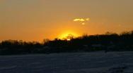 Michigan Winter Sunset  Stock Footage