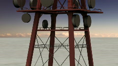 115 radio tower other upward Stock Footage