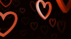 rotation hearts - stock footage
