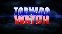 Tornado Watch 1327 Stock Footage