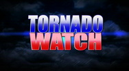 Tornado Watch Animated Background Title Plate Stock Footage