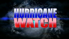 Hurricane Watch Animated Background Title Plate Stock Footage
