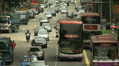 Singapore Traffic - stock footage