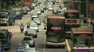 Stock Video Footage of Singapore Traffic