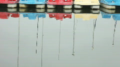 Paddle boats with seagull Stock Footage