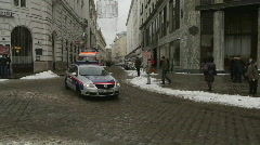 HD1080p Police car in Vienna City Austria Stock Footage