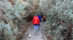 Hiking in Ein Bokek Stock Footage