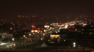 Stock Video Footage of Urban Bustle Night Time Lapse