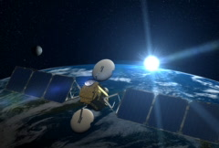 Stock Video Footage of Satellite over Earth, NTSC