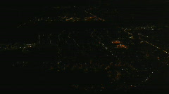 HD1080p Areal shot at night Stock Footage