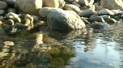 Stone falls into water Stock Footage