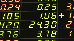 NYC STOCK EXCHANGE Market BIG BOARD Display FINANCE INDUSTRIAL - stock footage