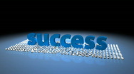Stock Video Footage of Success, Winner, Victory, Triumph - Animated Title 04 (HD)