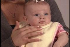 Baby Wearing Bib Stock Footage