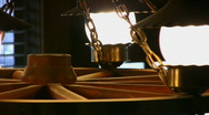 Flickering Wagon Wheel Light Stock Footage
