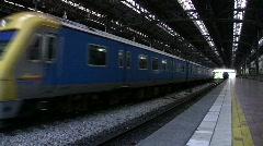 KUALA LUMPUR RAILWAY STATION Train Railroad ARRIVES in Station, Malaysia Stock Footage